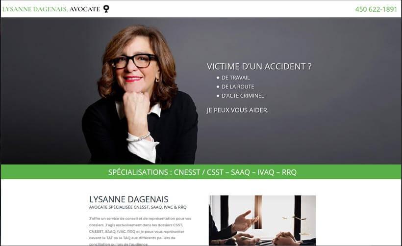 Site web de Lysanne Dagenais